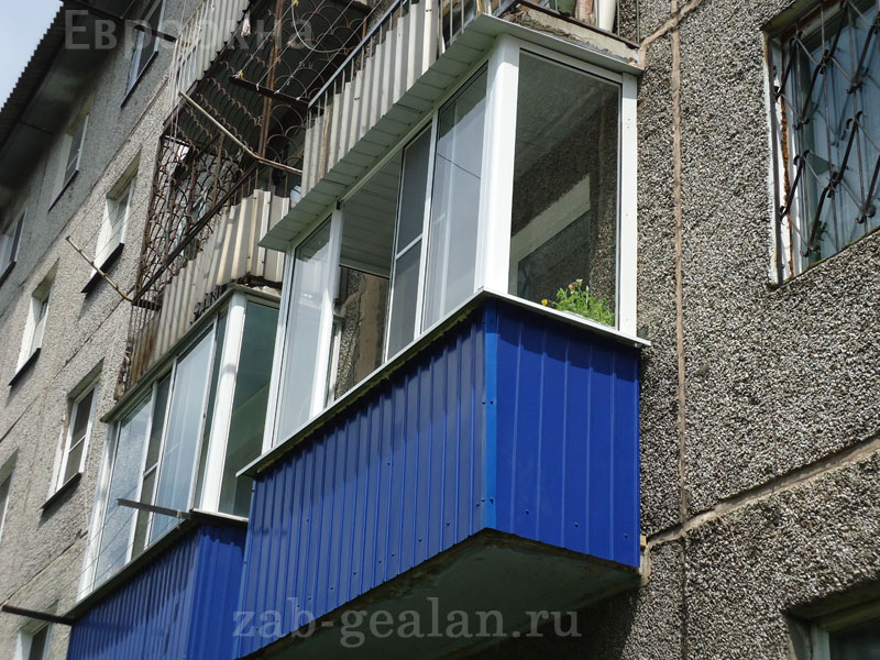 Отделка парапета балкона..