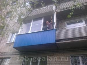 Холодное остекление балкона профилем кп45 zab-gealan.