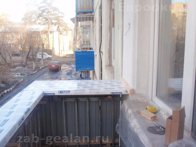 Фото остекления балкона в теплом варианте zab-gealan.