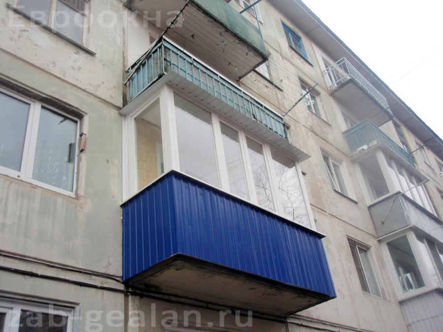 Остекление и обшивка балконов. материал обшивки( пластик, са.