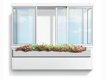 Остекление лоджий и балконов в холодном варианте, профиль КП-45