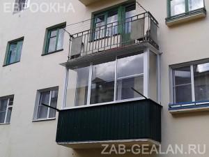 Холодное остекление балкона алюминиевым профилем Сиал КП-45