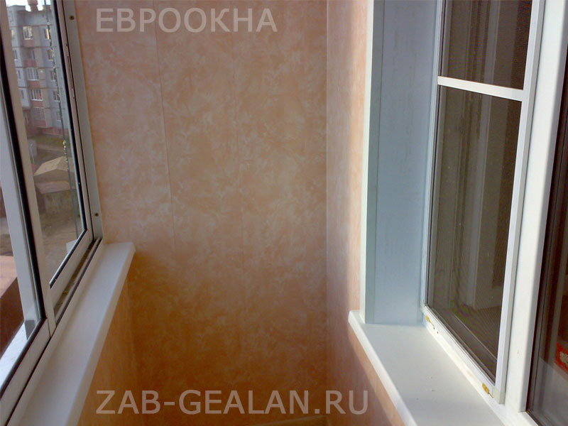 Холодное остекление лоджии, внутренняя отделка zab-gealan.